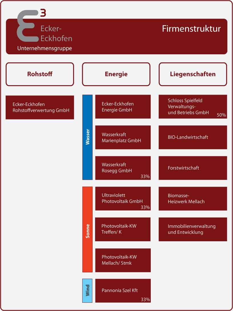 Organigramm-Firmen-Unternehmensgruppe